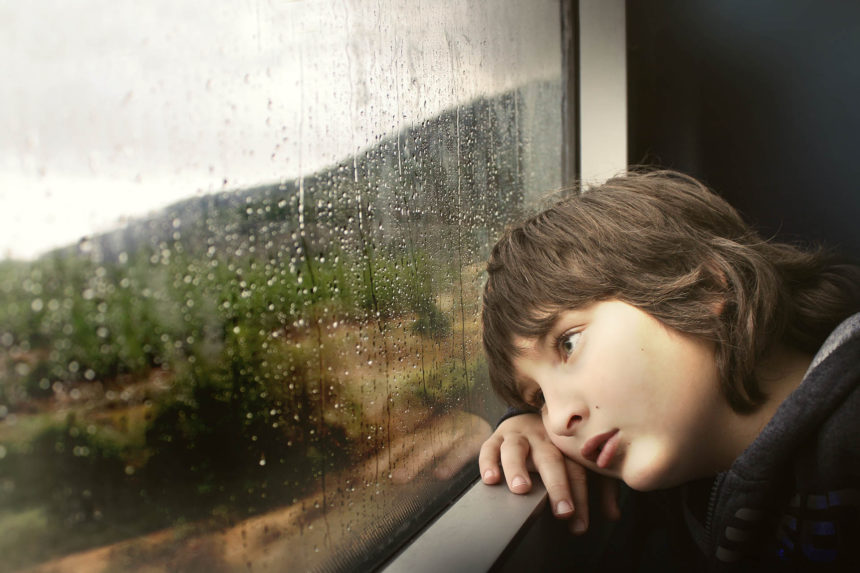 The boy on the train